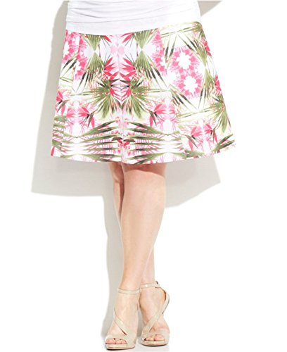 Inc international concepts women printed a line skirt plus size 3x tropcl paradise