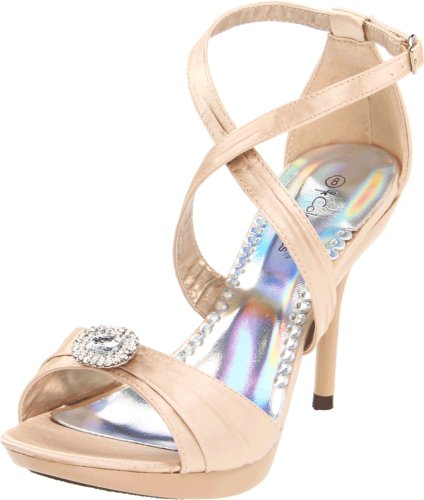 Coloriffics Metallic Sandals - Coloriffics Women's Miley Platform Sandal,Nude,7.5 M US