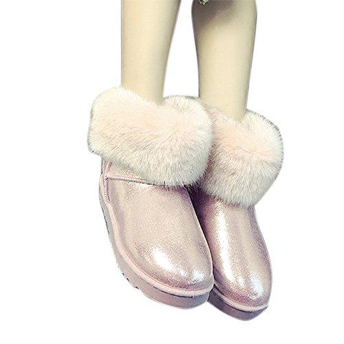 Spritech(TM) Fashion Women's Warm Flat Fur Button Elegant Tassel Winter Snow Boots