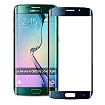 S6 Edge Screen Protector - Universal Buying(TM) Samsung Galaxy S6 Edge Tempered Glass [Curved Full Coverage Tempered Glass Screen Protector] [Ultra Thin 0.33mm Thickness] - Black