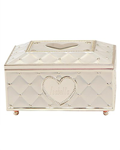 Silverplate Heart Box (Personalized Ballerina Musical Jewelry Box)