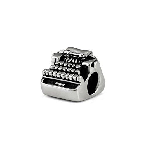 Ohm Beads Sterling Silver Typewriter Bead Charm