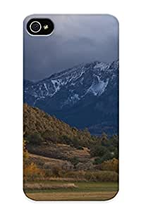 Graceyou Case Cover Protector Specially Made For Iphone 4/4s Mountains Landscapes Nature Horses Chrome