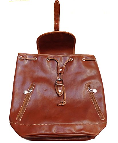 Zaino Donna in vera pelle made in Italy BC701 cognac