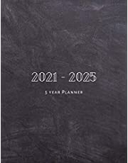 5 Year Planner 2021-2025: 60 Months Calendar Five Year Monthly Planner With Holidays. Schedule Organizer To Do List With Black Cover