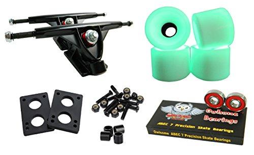 Longboard 180mm Trucks Combo w/70mm Wheels + Owlsome ABEC 7