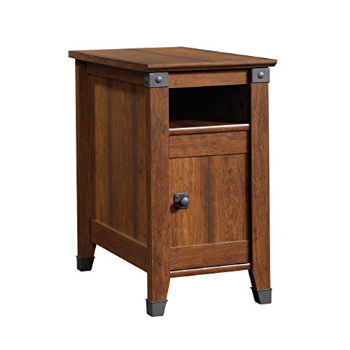 "Sauder 414675 Carson Forge Side Table, L: 14.17"" x W: 22.44"" x H: 24.65"", Washington Cherry finish"