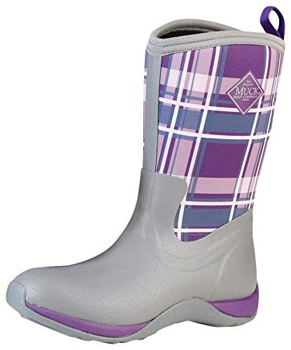 Muck Boot Company Women's Arctic Weekend Boot B00TT37O8A 7 W US|Gray/Acai Plaid