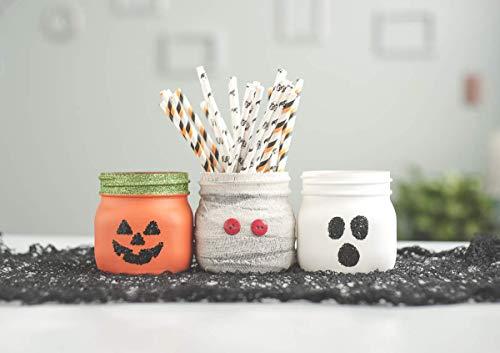 Set of 3 Halloween Decor Jars, Pumpkin, Ghost and Mummy for $<!--$32.00-->