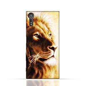 Sony Xperia XZ TPU Silicone Case with Lion Portrait Air Brush Pattern