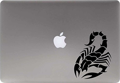 Scorpion Version 1 Vinyl Decal Sticker for Computer Macbook Laptop Ipad Electronics Home Window Custom Walls Cars Trucks Motorcycle Automobile and More (BLACK)