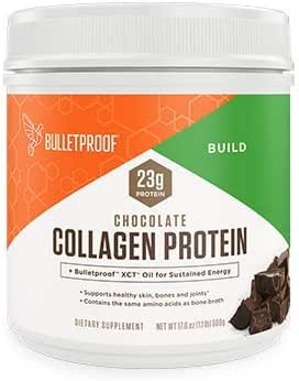 Bulletproof Collagen Peptides Protein Powder - Chocolate Flavored Hydrolyzed, Grass Fed, Pasture Raised, Ketogenic Diet, Amino Acid Building Blocks for High Performance (17.6 oz)