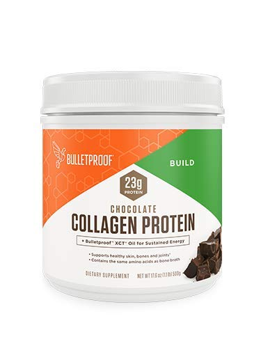 Bulletproof Collagen Peptides Protein Powder - Chocolate Hydrolyzed, Perfect for Keto and Paleo Diet, Grass Fed, Vital Amino Acid Building Blocks for Men and Women, Includes MCT Oil (17.6 Ounces)