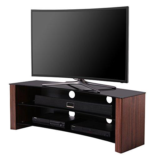 "1home gebogen TV Bank 32""-55"" TV Schrank TV 4K Ultra HD LED LCD OLED Plasma TVs Smart 3D TV Rack Abmessungen 120 x 45 x 45 cm"
