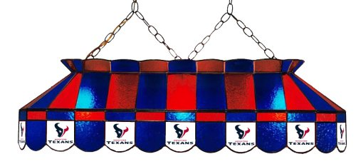 (Imperial Officially Licensed NFL Merchandise: Tiffany-Style Stained Glass Billiard/Pool Table Light, Houston Texans)