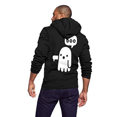 Hoodies Streetwear Pullover Sweatshirt Hooded Coat Jacket Sweater Shirt Top Windbreaker Outerwear Ghost Boo of Disapproval Thumbs Down Unhappy - Full Zip Unlined Wind Jacket