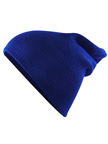 Blue Kids Beanie (Century Star Kids Boys Girls Fashion Soft Slouchy Stretchy Baggy Hip-hop Slouchy Hat Children Basic Beanie A Royal Blue)
