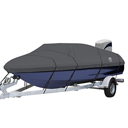(Classic Accessories StormPro Semi-Custom Heavy Duty V-Hull Boat Cover, 21'6