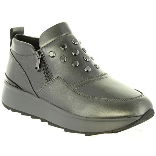 Sneaker Grey Donna dk C1g9f gun Infilare Gendry D Geox Grigio A gwqznt