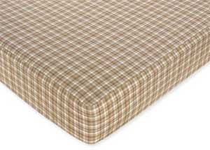 Sweet Jojo Designs Teddy Bear Fitted Crib Sheet for Baby and Toddler Bedding Sets - Solid Chocolate Microsuede