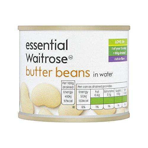 Butter Beans essential Waitrose 215g - Pack of 6