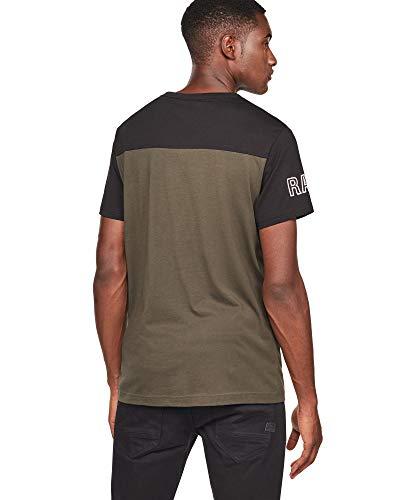 Tee 13 Homme G Regular Raw Graphic Noir Shirt star anwEB