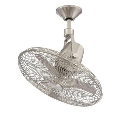 - Home Decorators Collection Bentley III 22 in. Oscillating Brushed Nickel Ceiling Fan Collection