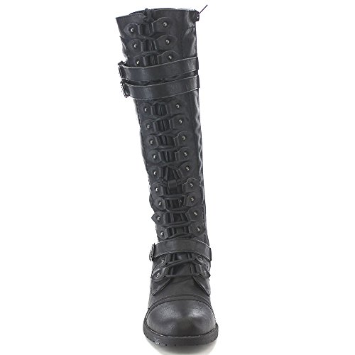 Diva Wild 65 Up Timberly Knee Lace Boots Black gqwpadq