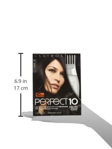 Clairol Perfect 10 By Nice N Easy Hair Color 002 Black 1 Kit Pack Of 2