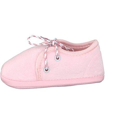 Omnia-Baby Pantau.eu Babyschuhe Lauflernschuhe Kinderschuhe Babyschühchen Krabbelschuhe, aus Samtstoff (Nicki) - Zapatos primeros pasos para niño Rosa