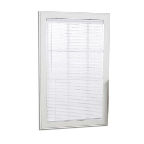 Project Source 1-in Cordless White Mini-Blinds (Common: 39-in; Actual: 38.5-in x 64-in)