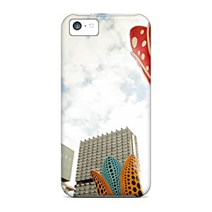Hot New Flowers In Front Of The Building Case Cover For Iphone 5c With Perfect Design