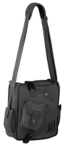 Messenger Vintage Body Shoulder Charcoal Urban 1 Pocket Design Cross Multi Bag Canvas RUqrRB