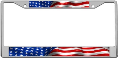 American Flag - License Plate Frame Holder from Amazon (Holder Patriotic)