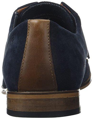 Redskins Nesko, Zapatos de Cordones Derby para Hombre Bleu (MARINE+COGNAC)