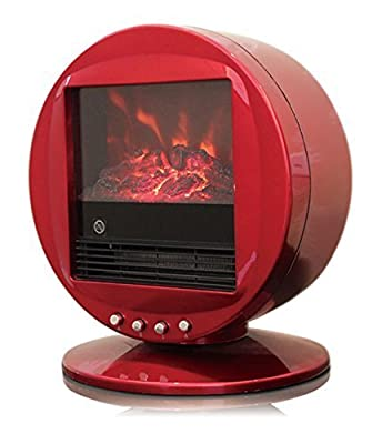 WBM HH-2001R Himalayan Heat 1500W Electric Fireplace Heater by WBM