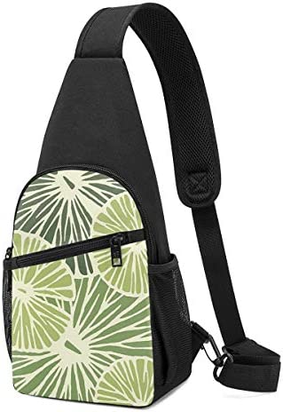 ボディ肩掛け 斜め掛け グリーンのレモン ショルダーバッグ ワンショルダーバッグ メンズ 軽量 大容量 多機能レジャーバックパック
