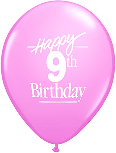Pioneer Balloon Company Happy 9th Birthday Latex Balloons 5 Pack 11quot