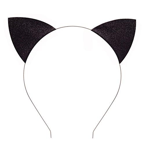 BAOBAO Glitter Cat Ears Baby Girls Kids Toddler Headband Hairband Hair Hoop Cosplay(Black) ()