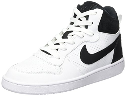 De De Fille black Gymnastique Borough Chaussures Court white white white Nike Gs Blanc Mid wSTX7qU