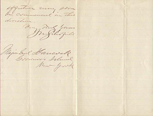 Lt. General John M. Schofield Autograph Letter Signed 12/04/1885
