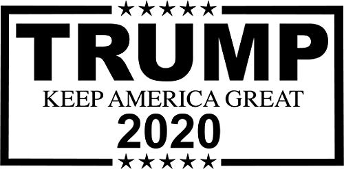 Trump Sticker MAGA 2020 Make America Great Again Vinyl Bumper Decal (Matte Black)