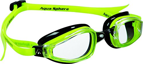 (MP Michael Phelps K180 Goggle Clear Lens Yellow/Black)
