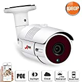 POE Security IP Camera,1080P Outdoor Video Security Bullet Camera with 2MP High Resolution Remote View Phone App,Night Vision, Motion Alert, IP65 Waterproof Security Surveillance Camera System ANRAN