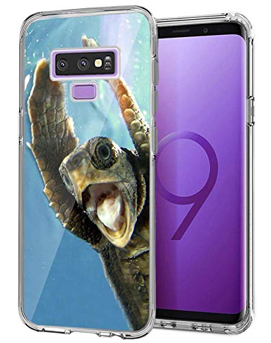 Beemars Customized Funny Turtle Case for Samsung Galaxy Note 9, Clear Crystal Protective Anti-Slip Bumper Samsung Galaxy Note 9 Phone Case