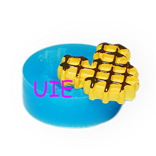 196LBQ Mickey Mouse Waffle Mold Wafer Molds Silicone Flexible Mould 26mm - Bakeware Biscuit Charms Molds, Food Safe