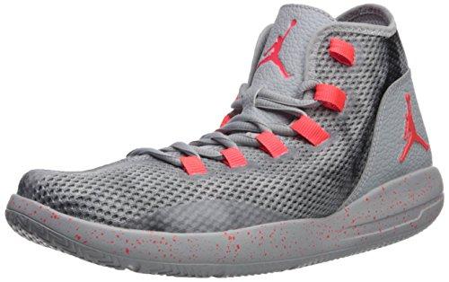 Nike Jordan Men's Jordan Reveal Prem Wolf Grey/Infrared 23/Black Basketball Shoe 8 Men US by Nike