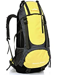 55L Hiking Backpack, Waterproof Lightweight Large Hiking Outdoor Backpack for Sports Hiking Camping Fishing Climbing...