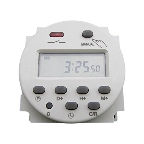 AC 12V-220V 16A LCD Digital CN101A Small Timer Microcomputer Programmable Controller Power Switch (110V)