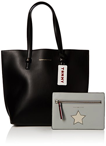 Tommy Nero Effortless Tote Hilfiger 002 Black AW0AW04853 Borsa ZZvqYxz
